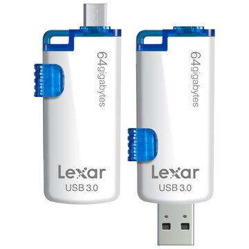 Lexar JumpDrive M20 Mobile USB 3.0 Flash Drive - 64GB - LJDM20-64GBSBNA
