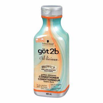 göt2b Oil-licious Golden Shimmer Conditioner - 400ml
