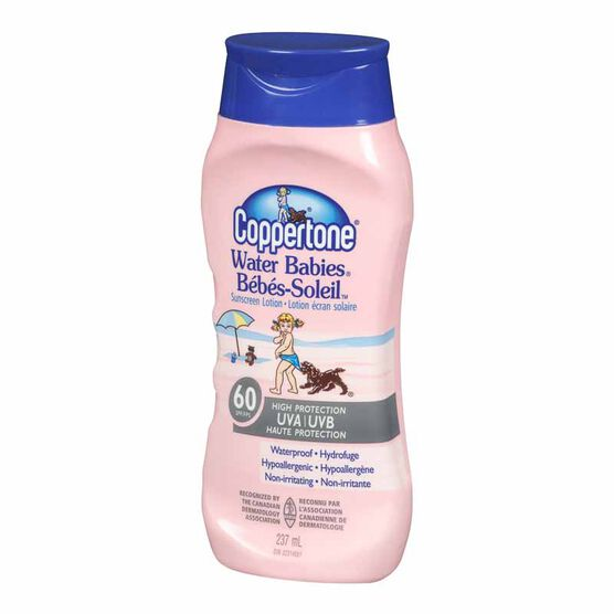 Coppertone Water Babies Sunscreen Lotion - SPF 60 - 237ml