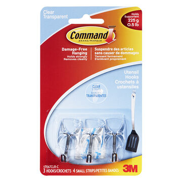 3M Command Small Wire Hooks - 17067CLR-C