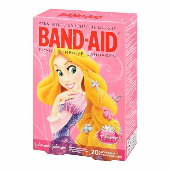 Johnson & Johnson Band-Aid Bandages - Disney Princesses - 20's - Assorted Sizes