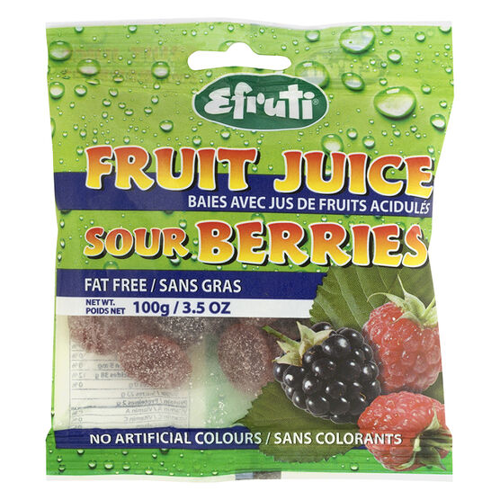 Efruti Sour Fruit Juice Berries - 100g