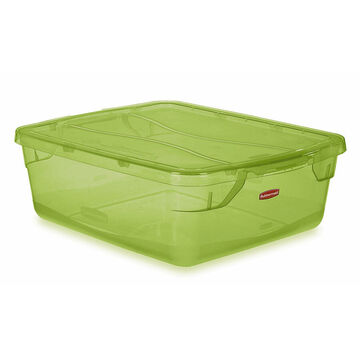 Rubbermaid Cleverstore Tote - Lime Green - 14L