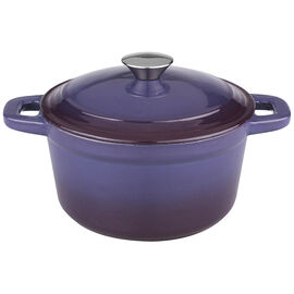Neo Cast Iron Round Covered Casserole - Purple - 5qt