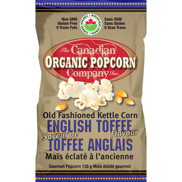 Canadian Organic Popcorn -  English Toffee -135g