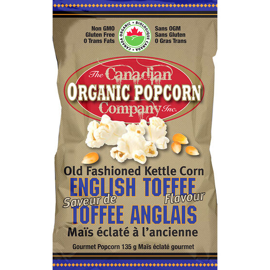 Canadian Organic Popcorn -  English Toffee -135g