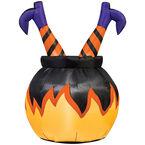 Halloween Witch Legs Cauldron