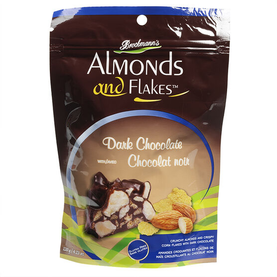 Brockmann's Almonds and Flakes - Dark Chocolate with Almonds - 120g