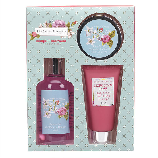 Bunch of Flowers Boxed Bath Set - 3 piece