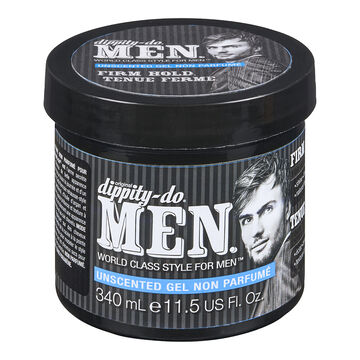 Dippity-Do Men Unscented Gel - Firm Hold- 340ml