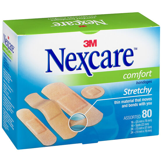 Nexcare Comfort Stretchy Bandages - Assorted - 80's