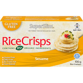 SuperSlim Rice Crisps - Sesame - 100g