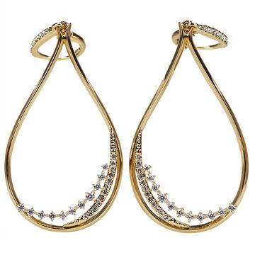 Eliot Danori Padma Drop Earrings - Gold