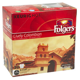 Folgers K-Cup Coffee - Columbian - 30 servings