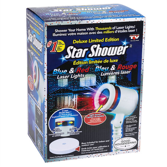 Star Shower Laser Light - Blue and Red Deluxe Limited Edition