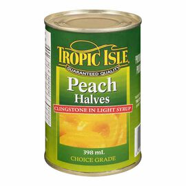 Tropic Isle Peach Halves - 398ml