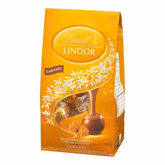 Lindt Lindor Milk Chocolate with Caramel - 150g