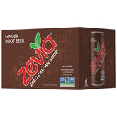 Zevia Soda - Ginger Root Beer - 6 x 355ml