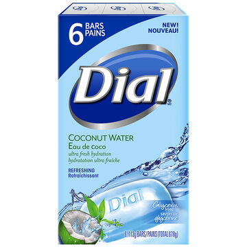 Dial Coconut Water Glyercin Soap Refreshing - 6 x 113g