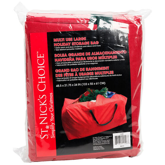 St. Nick's Choice Multi Use Holiday Storage Bag - Large