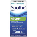 Bausch & Lomb Soothe Allergy Decongestant Eye Drops - 15ml