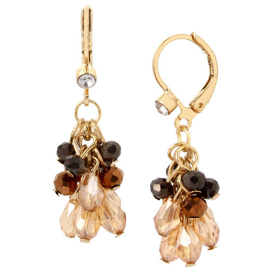 Haskell Cluster Earrings - Berry/Gold
