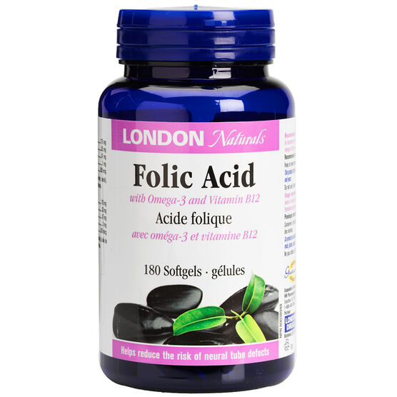 London Naturals Folic Acid Softgels - 180's