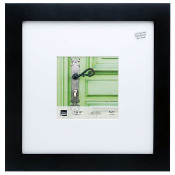 KG Langford Black Wood Frame - 10x10-Inch Matted for 5x5-Inch
