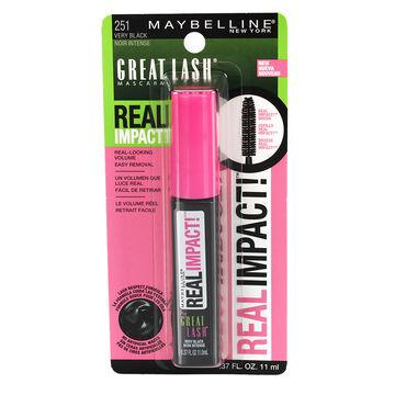 Maybelline Great Lash Real Impact Mascara - Very Black
