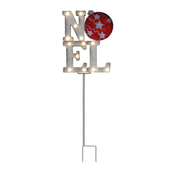 Marquee Tower Noel with Stake - 12in - C60373