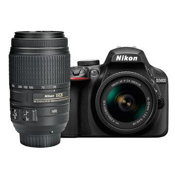 Nikon D3400 with AF-P DX 18-55mm VR and AF-S DX 55-300mm ED VR Lens - PKG 24666