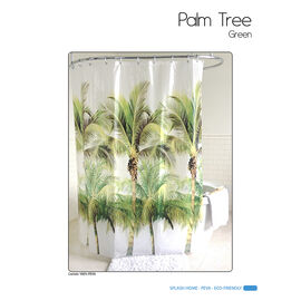 Splash Vinyl Shower Curtain - Palm