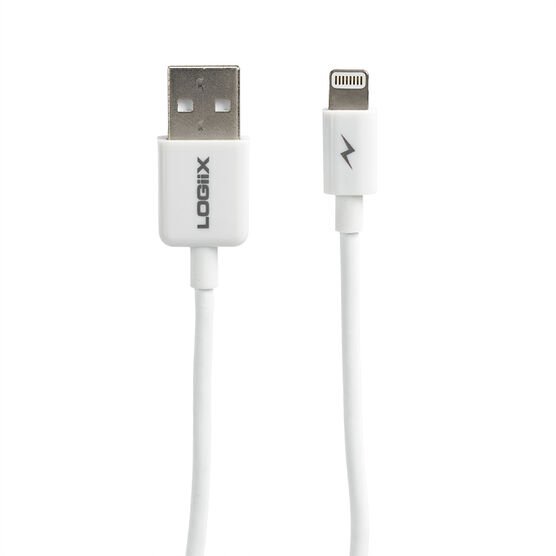 Logiix Sync and Charge Lightning Cable Jolt - White - LGX10911