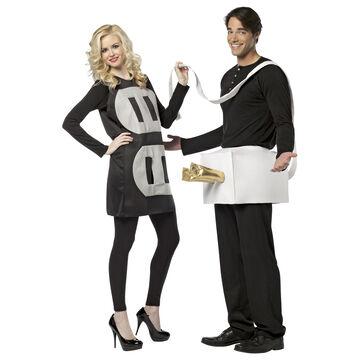 Halloween Plug and Socket Couples' Costume