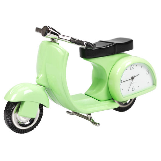 London Drugs Mini Clock - Scooter - 10.5 x 2 x 5cm