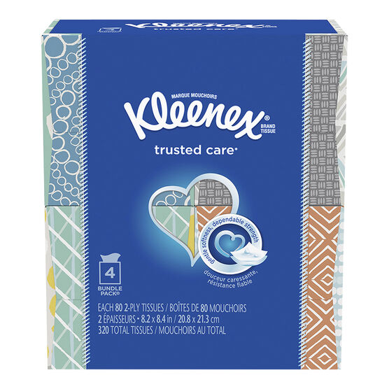 Kleenex Tissues Upright - 4 x 80's