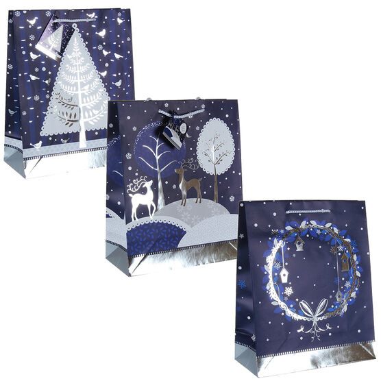 Winter Wishes Blue Ice Gift Bag - Assorted