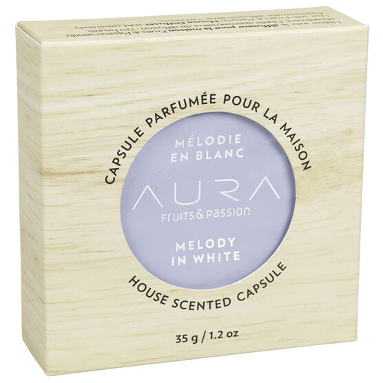 Fruit & Passion Aura House Scented Wax Capsule - Melody in White