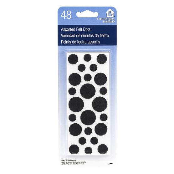 Helping Hand Felt Dots - Assorted - 48's