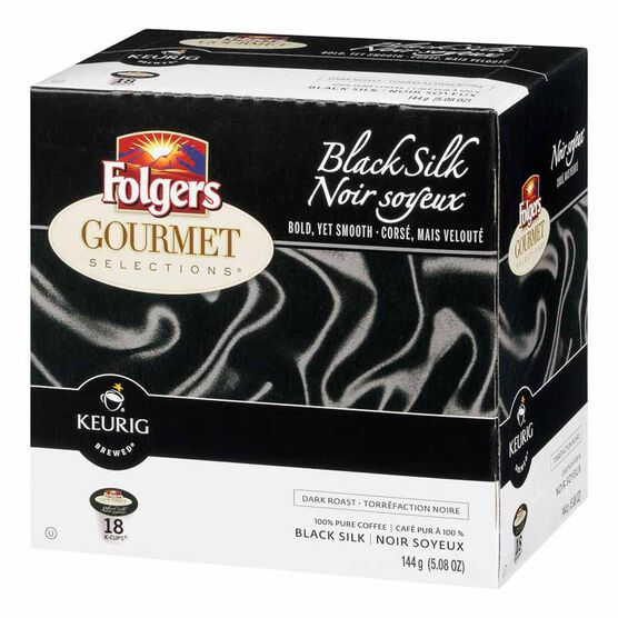 K-Cup Folgers Coffee Pods - Black Silk - 18's