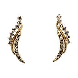 Eliot Danori Padma Stud Earrings - Gold