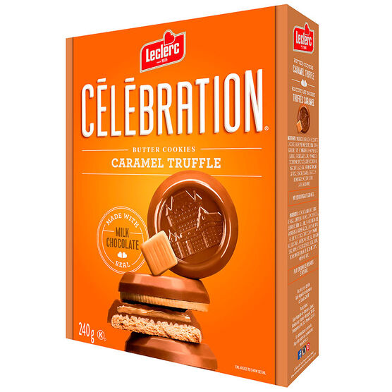 Leclerc Celebration Butter Cookies - Caramel Truffle - 240g