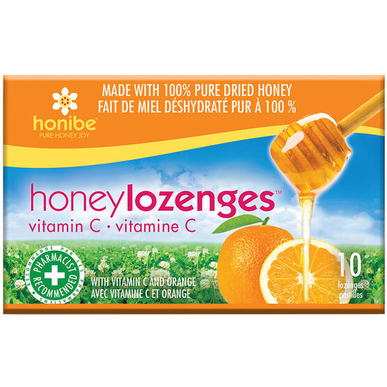 Honibe Honey Lozenges with Vitamin C - Orange - 10's