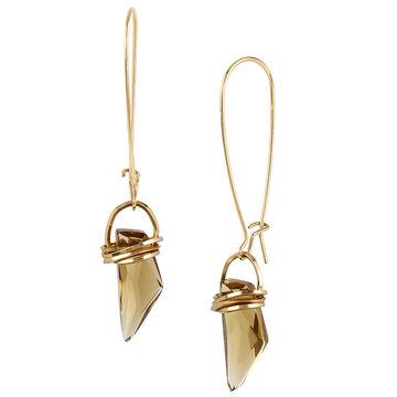 Robert Lee Morris Fauz Topaz Stone Shepherd Hook Earrings - Bronze