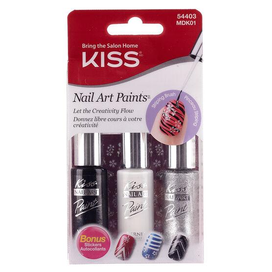 Kiss Nail Artist Paint & Stencil Kit - Gala