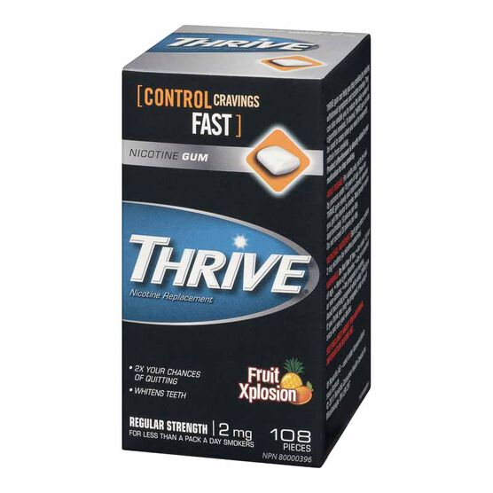 Thrive 2mg Stop Smoking Aid Gum - Fruit Xplosion - 108's