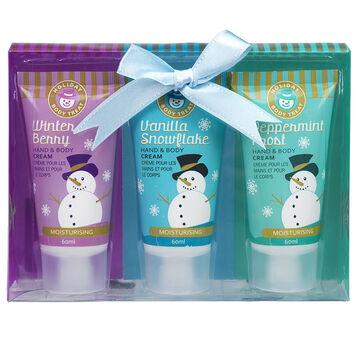 Holiday Body Treat Hand & Body Cream Set - 3's