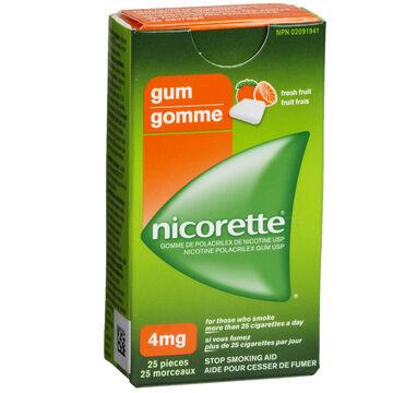 Nicorette Gum - Fresh Fruit - 4mg - 25's