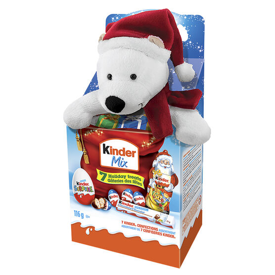 Kinder Christmas Max Mix with Plush Toy - Assorted - 116g