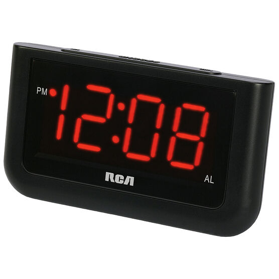 RCA Big Display Alarm Clock - Black -RCD30
